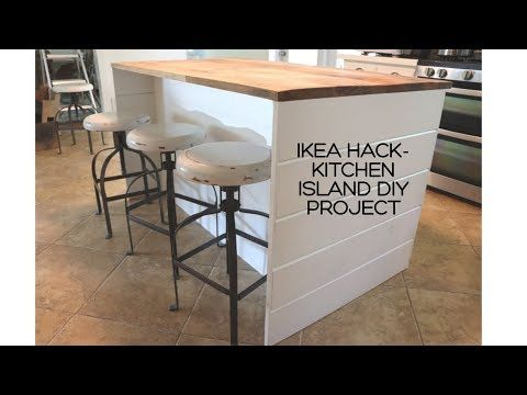 Ikea DIY Kitchen Island with Thrifted Counter Top!