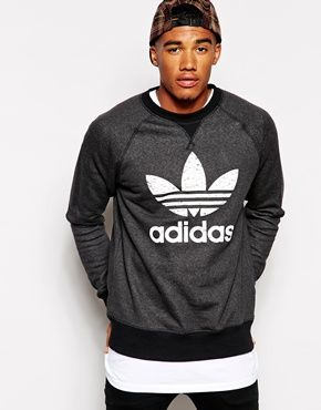 adidas Originals Fitted Sweatshirt AB7518 | Mens sweatshirts