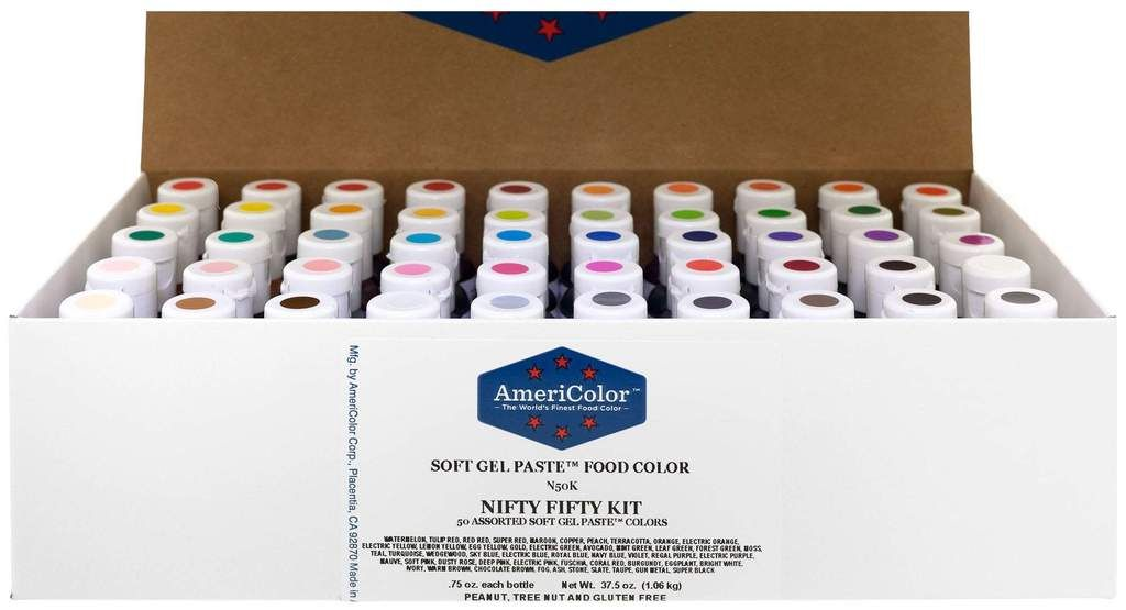 Food Coloring AmeriColor Nifty - Fifty Kit .75 Ounce Soft ...