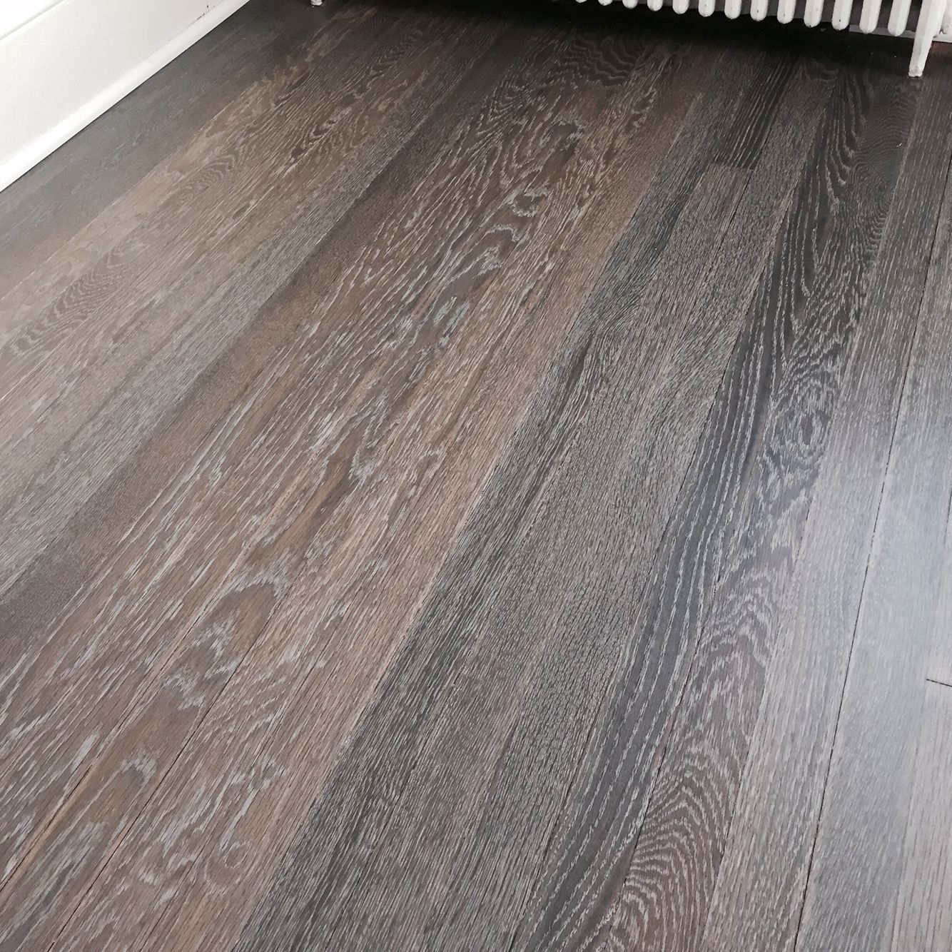 Refinished White Oak Floors With Rubio Fumed And Rubio 5