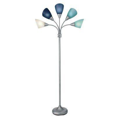 Room Essentials 174 5 45 Head Floor Lamp 45 Blue Re Style