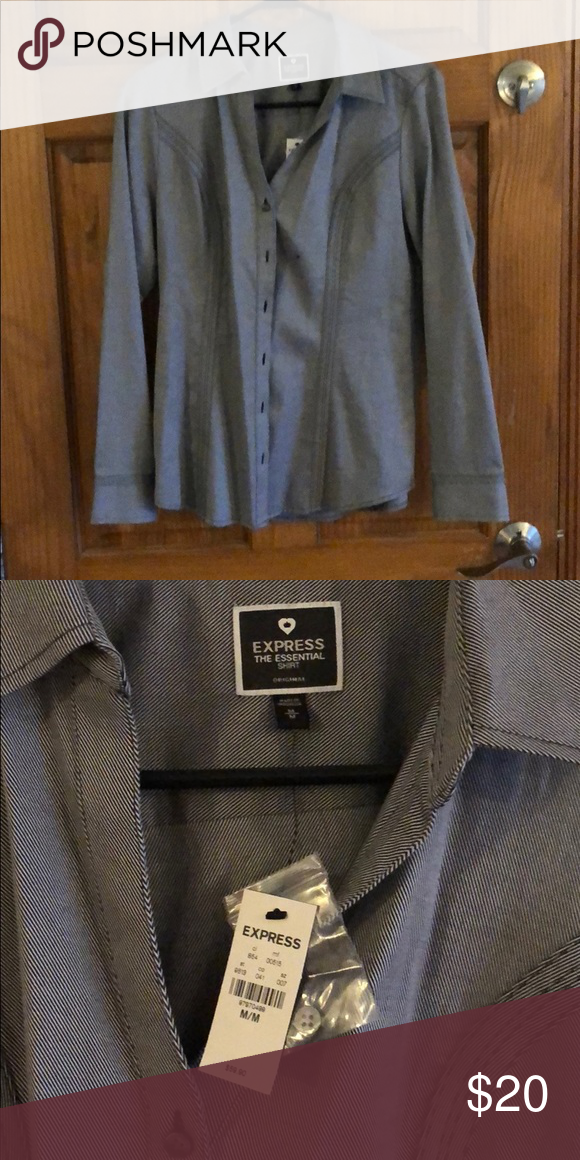 Express Button Down Black and white striped button down. Never worn.  Express Tops Button Down Shirts 365dc969b