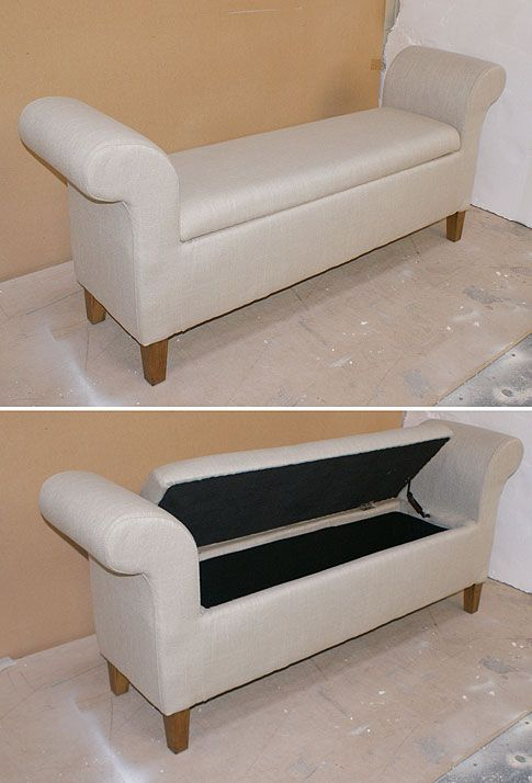 Nicky cornell storage bed end chaise longue stool h700mm for Chaise longue bed