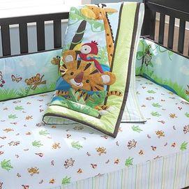 Fisher Price Rainforest Nursery 4 Pc Crib Set