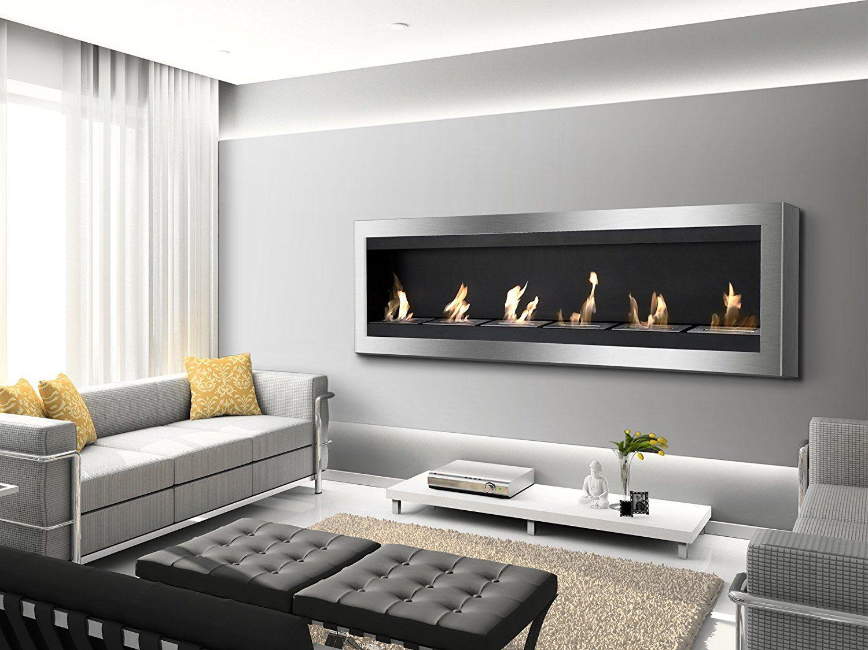 amazon com ignis maximum wall mount ventless ethanol fireplace