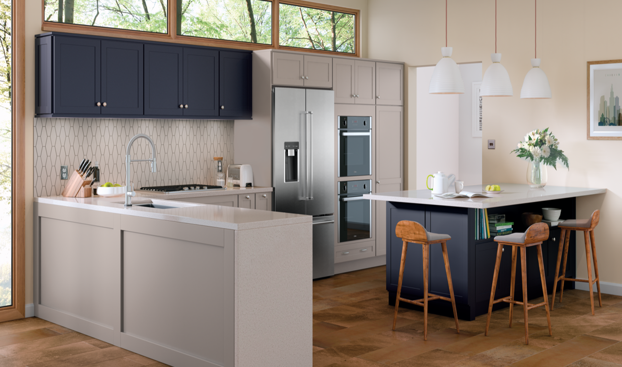 Say Hello To The New Merillat Classic Coordinating Cabinet Door Colors Affordable Styles That Wil Kitchen Cabinet Colors Grey Kitchen Cabinets Sleek Kitchen