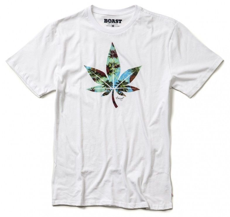 Leaf Graphic Tee in White by Boast