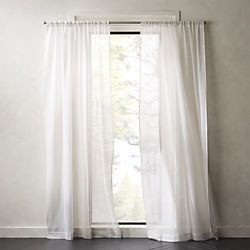 White Net Curtain Panel
