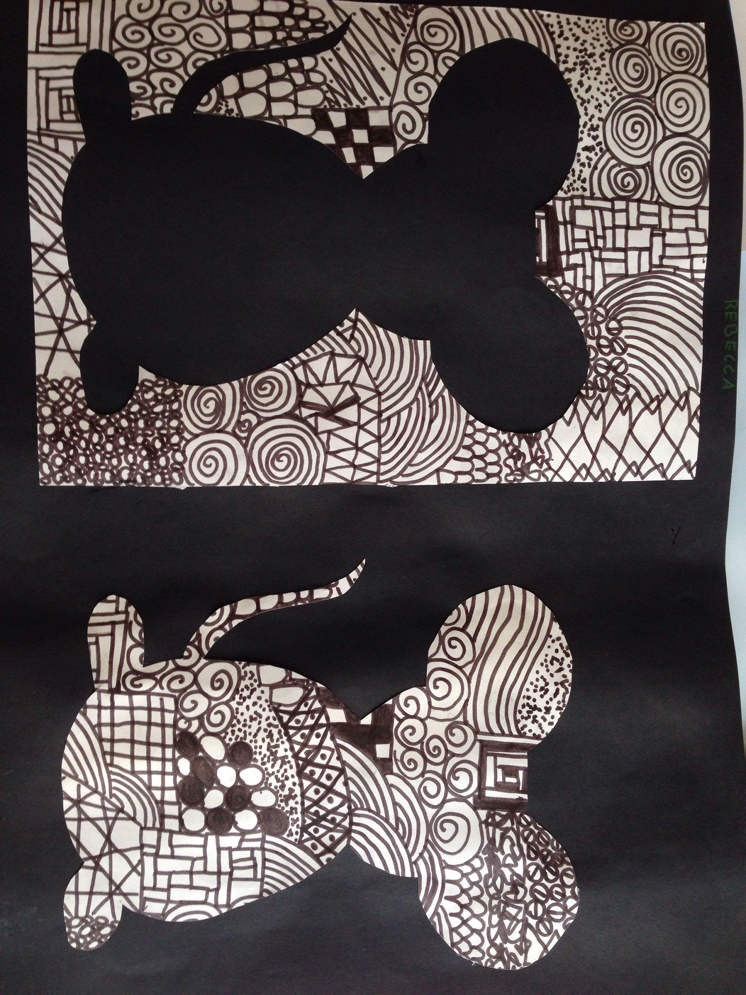 black and white kreatives mit kindern pinterest kunst grundschule kunstunterricht und. Black Bedroom Furniture Sets. Home Design Ideas