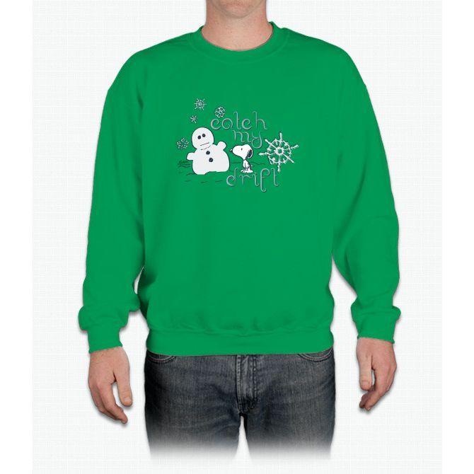 Peanuts Snoopy Catch My Drift Tee Crewneck Sweatshirt