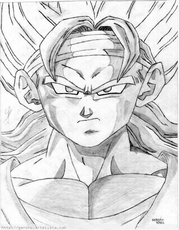 Dibujar A Goku A Lapiz Imagui Goku A Lapiz Dibujo De Goku Dibujos