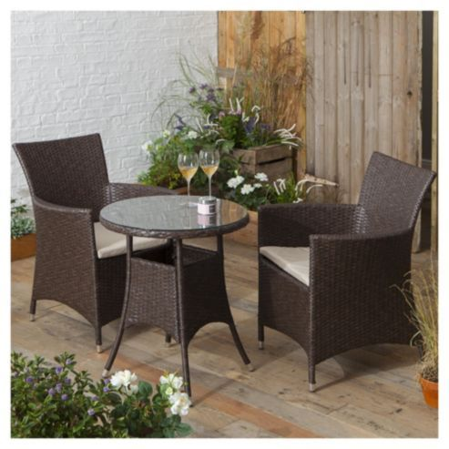 Rattan Garden Furniture Tesco tesco corsica rattan garden bistro set, brown | bistro set and gardens