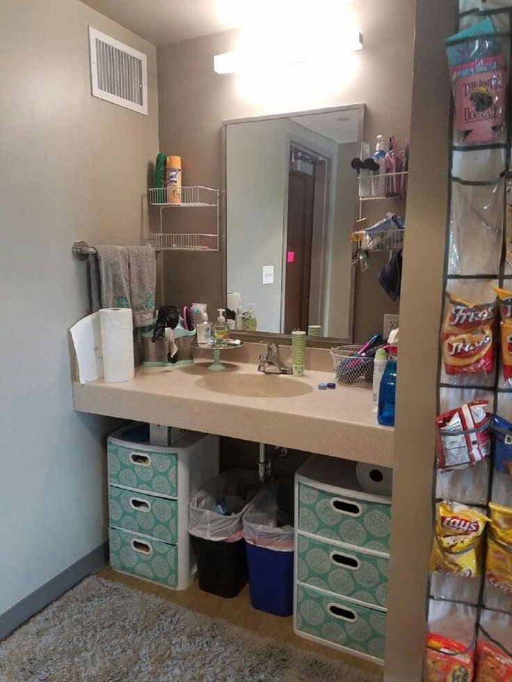 40 Creative Dorm Room Space Saving Storage Ideas is part of College bathroom - Dorm room space is restricted, use these cheap inventive ideas to maintain your room space bright, organized and decluttered