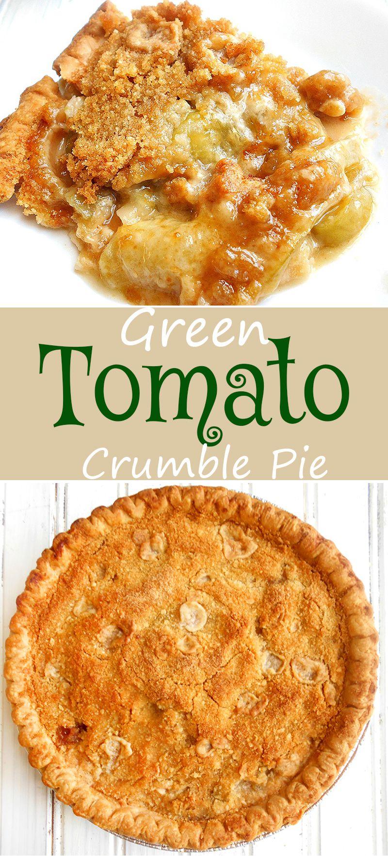 Green Tomato Crumble Pie is part of Tomato recipes - Simple green tomato crumble pie