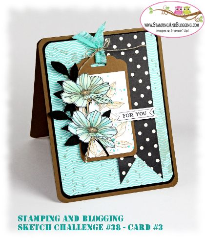 Card #3 Stampin Up Peaceful Petals, card by Sandi @ www.stampingwithsandi.com