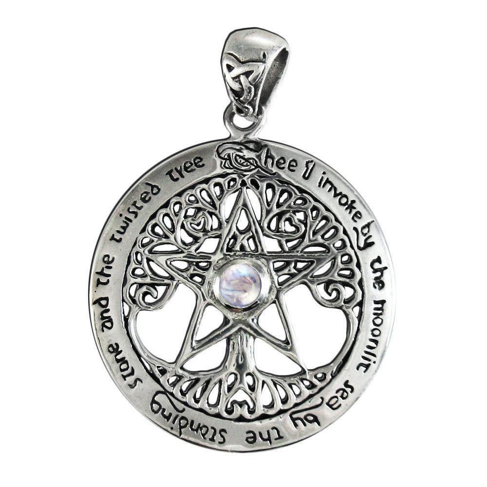 Sterling Silver 925 Talisman Raven Pentagram Star Pendant Necklace oSgiZPF3h