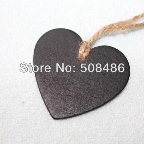 100 x frete grátis Double Side amor do coração de madeira Mini Blackboard Quadro Entrar Tag Para Decoração em Aliexpress.com