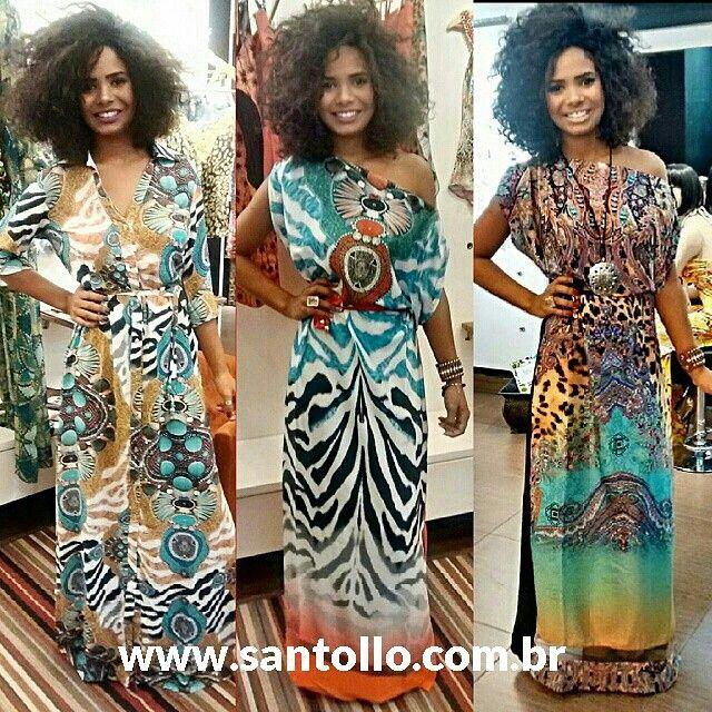 Vestido longo estampado. Tamanho único. Você gostou? Venha conhecer nossa loja virtual:  www.santollo.com.br #vestidolongo #lookoftheday #looks #dresschic #fashion #blogtrendalert #dressstyles #girls