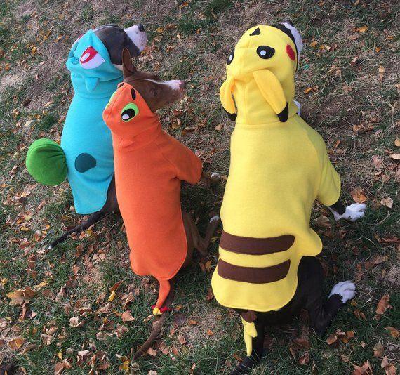 Bulbasaur From Pokemon Pet Dog Costumes Sizes Xs To Xl Dog