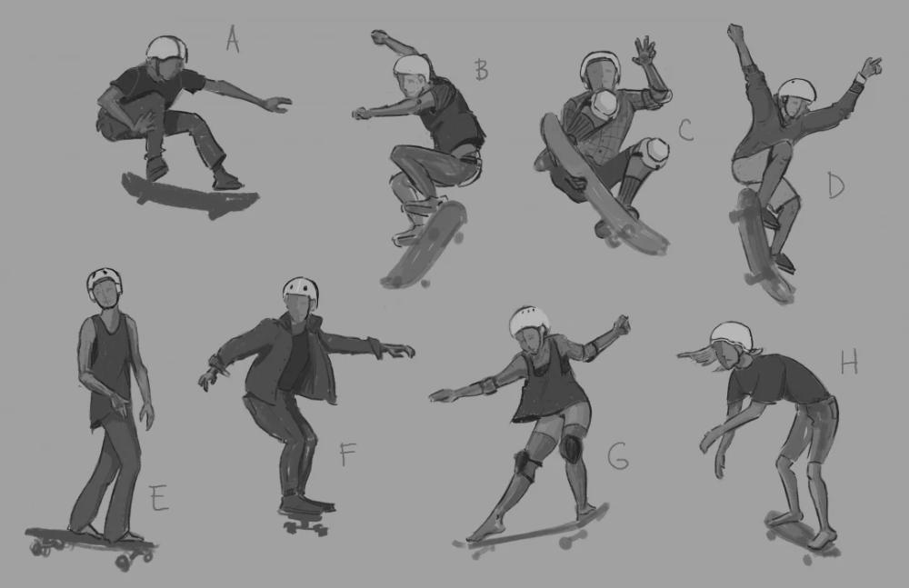 Skateboard Pose Google Search In 2020 Skillshare Projects Skillshare Twins