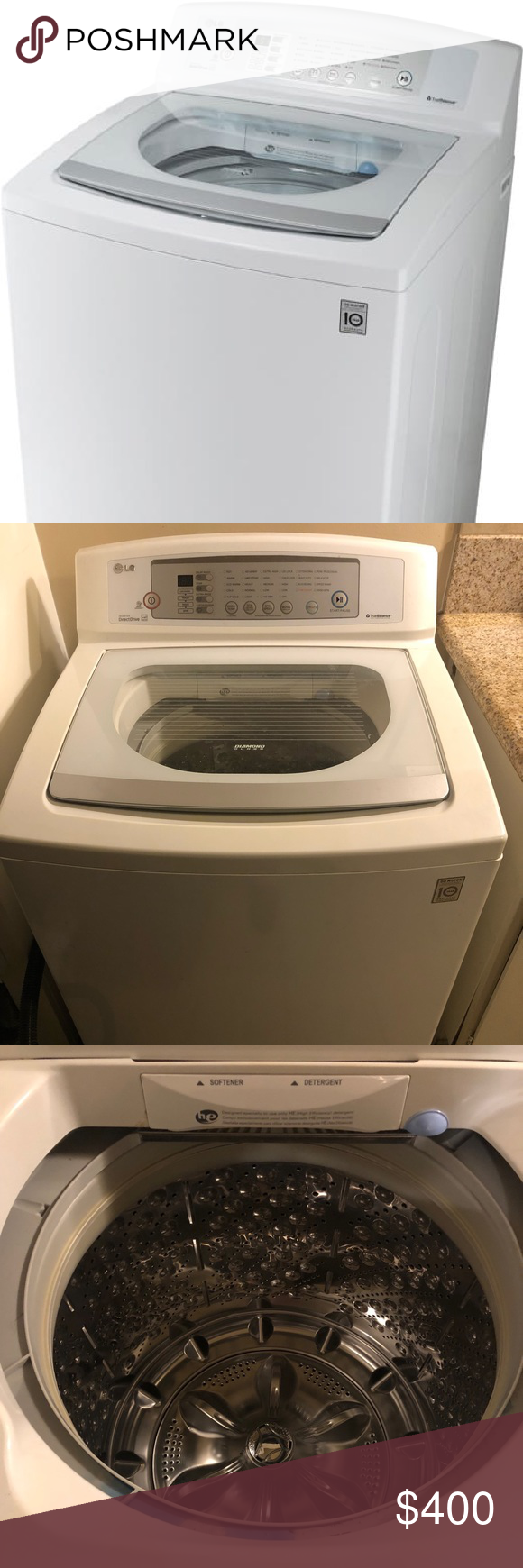 LG High Efficiency Top-Loading Washer LG - 3.7 Cu. Ft. 8 ...