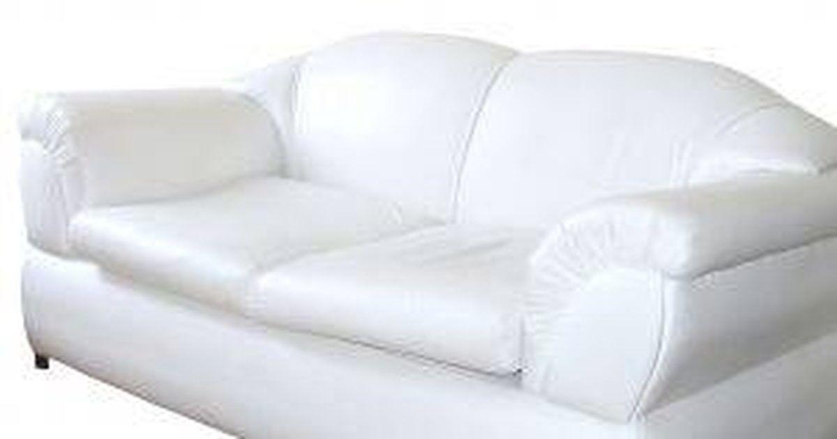 Cómo limpiar un sofá blanco   Sofás de cuero blanco ...