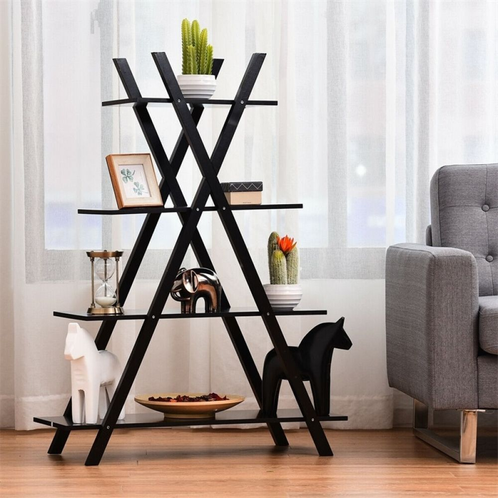 X-Shape 4-Tier Display Shelf/Rack  Price: 84.00 & FREE Shipping  #homedecorblog