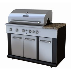 Master Forge Brown And Stainless Steel 5 Burner Liquid Propane Gas Grill Outdoor Kitchen Grill Modular Outdoor Kitchens Outdoor Kitchen Kits