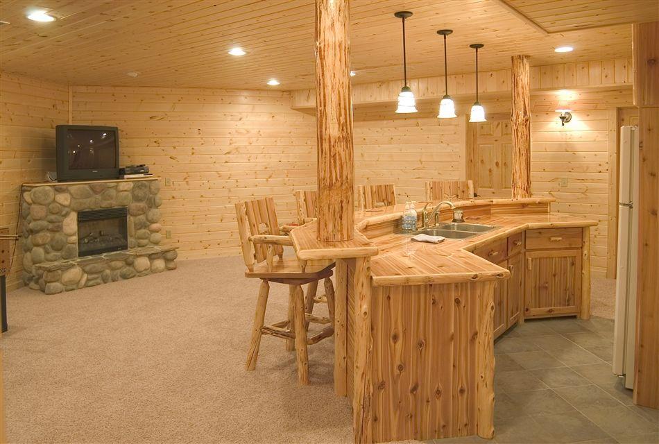 Custom Cedar Bar Rec Room Ideas Rustic Kitchen