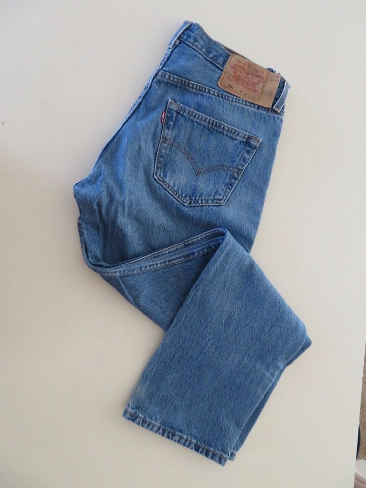 f341c6a5 Levis Original Fit 501 Button Fly Jeans Size 34 X 31 (#501-0193 Made in  USA) #Levis #ClassicStraightLeg