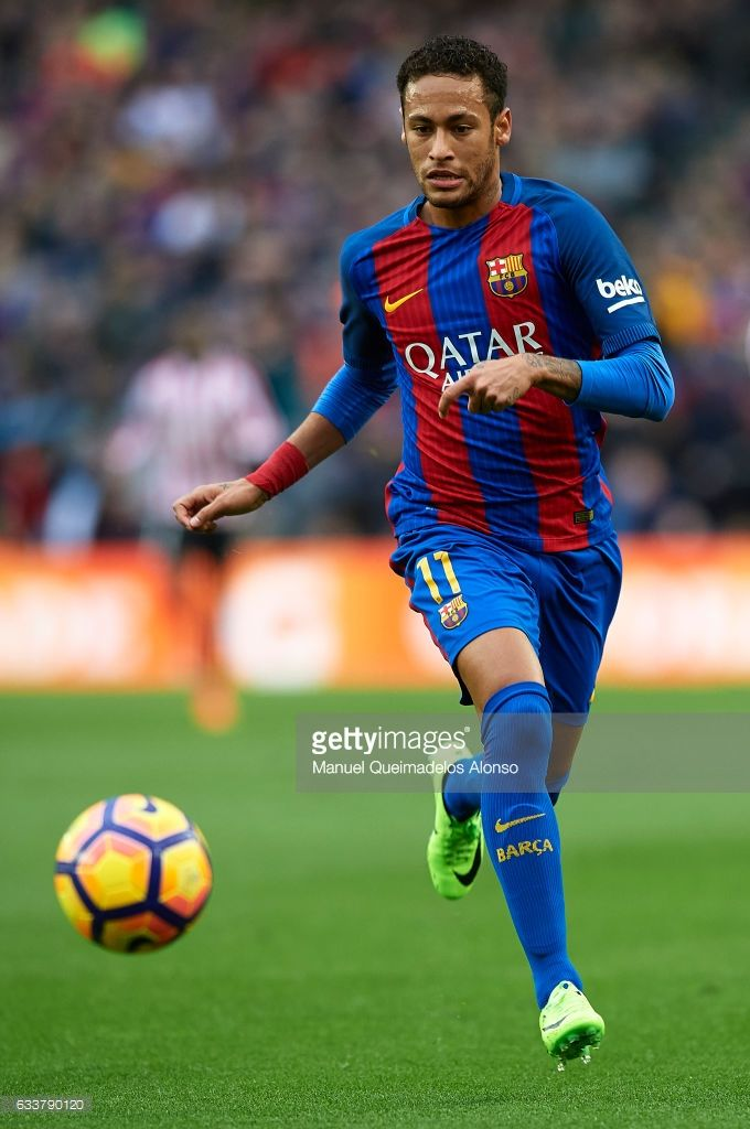 Neymar JR of Barcelona runs with the ball during the La ...
