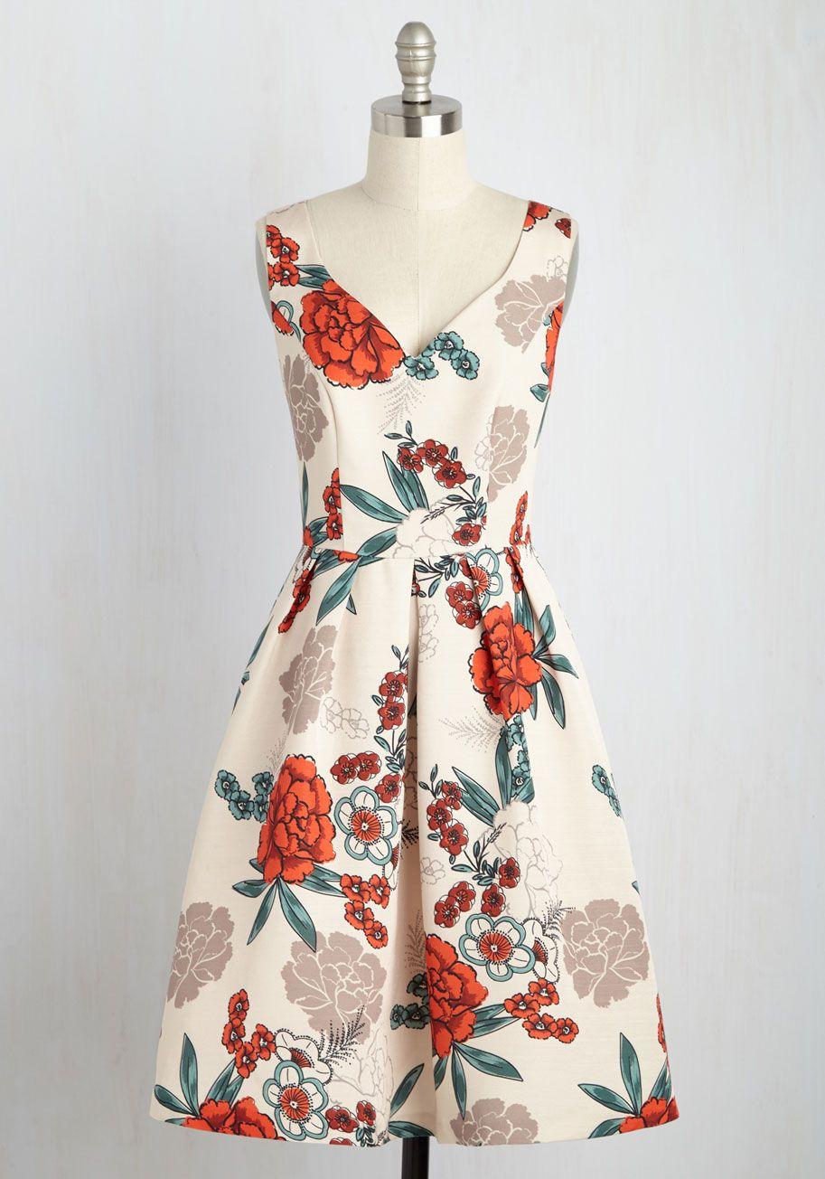 Fall Vintage Floral Wedding Guest Dresses