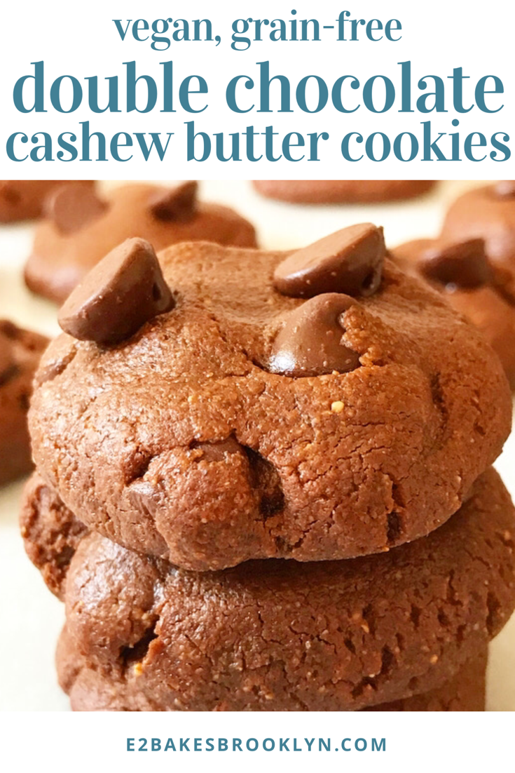 Double Chocolate Cashew Butter Cookies Chocolate Cashew Butter Cashew Butter Cashew Butter Recipe