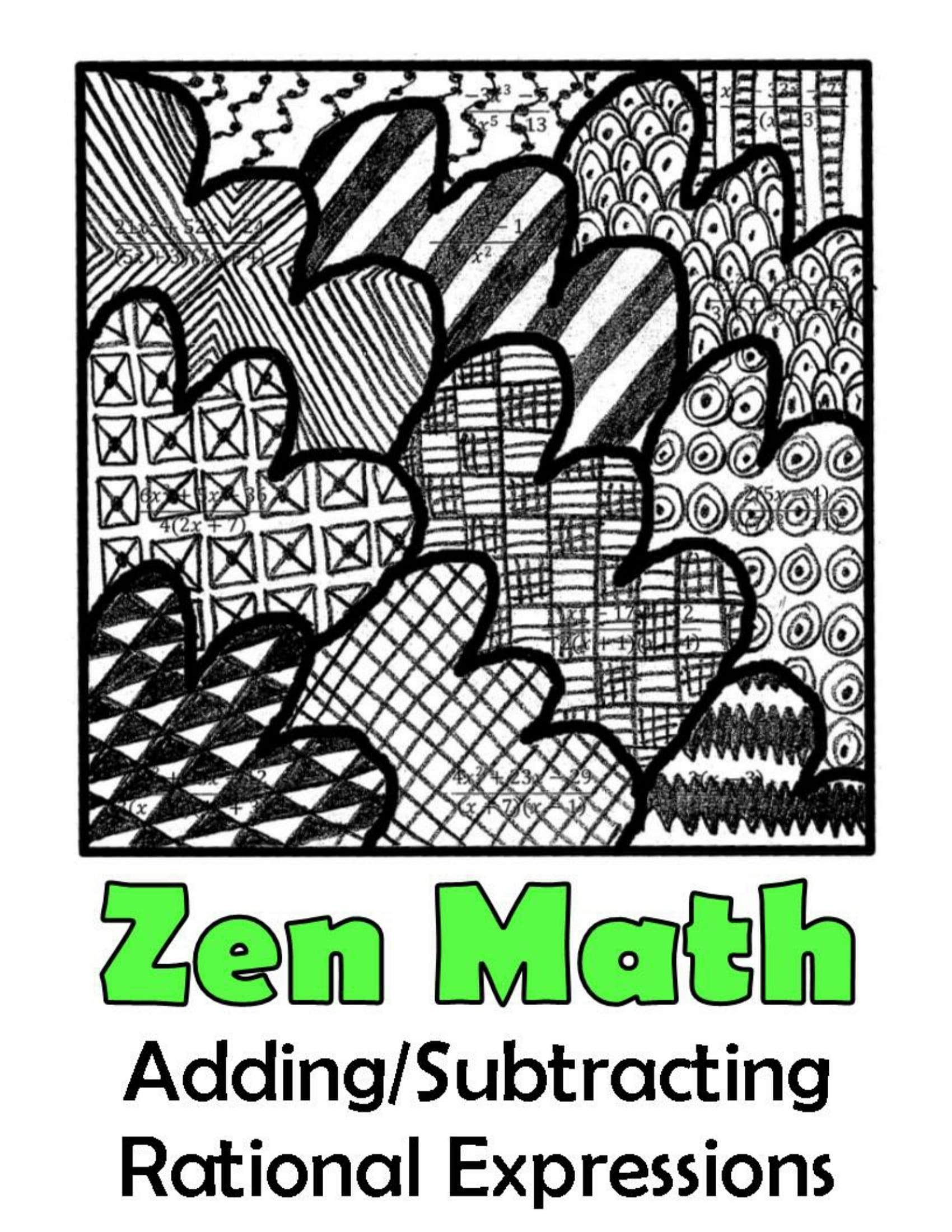 Algebra 2 Color By Number Mega Bundle 30 Activities For Skills Practice Rational Expressions Adding And Subtracting Subtraction Adding rational expressions with like