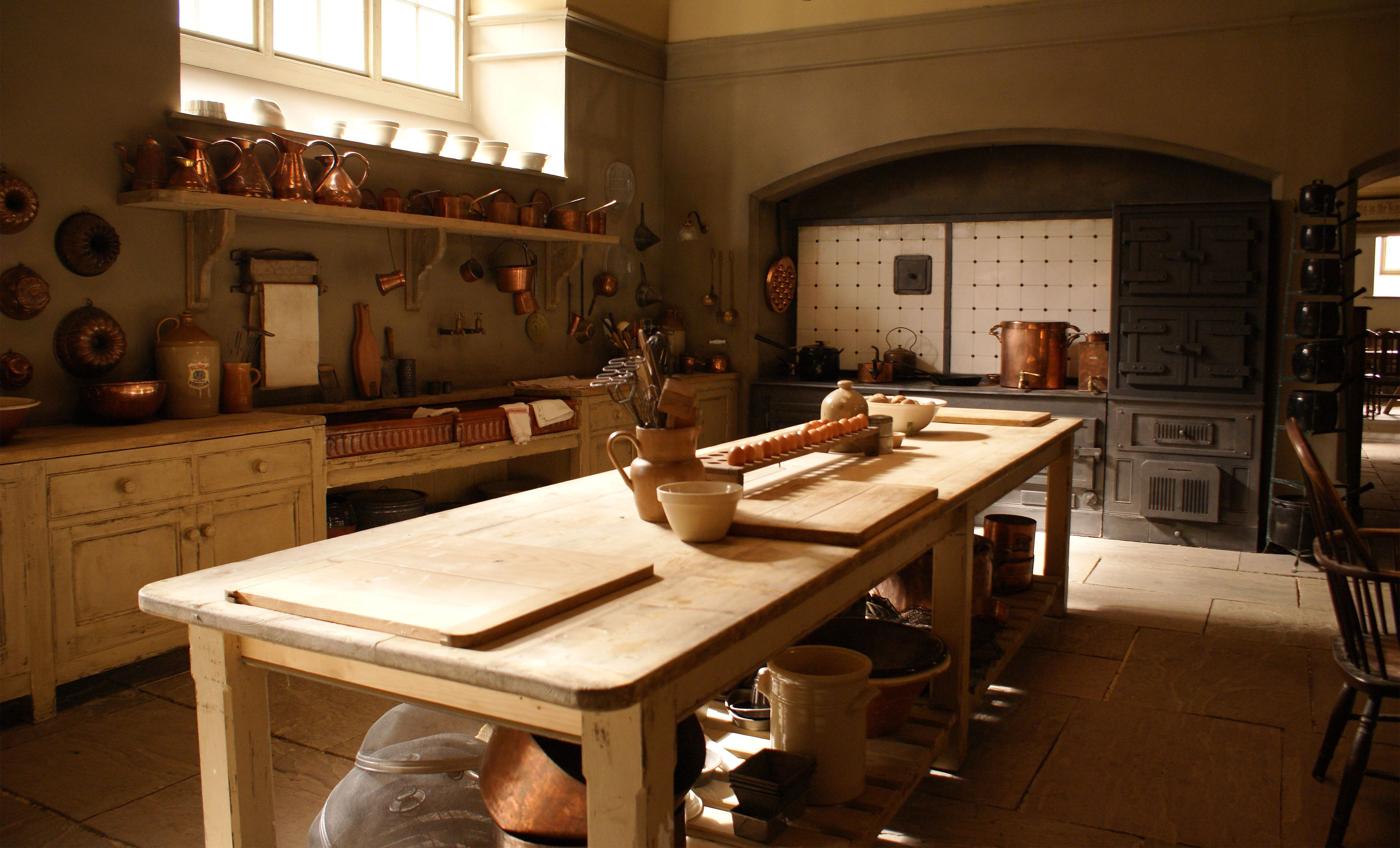 The authentic colour of Mrs Patmore s kitchen in Downton Abbey