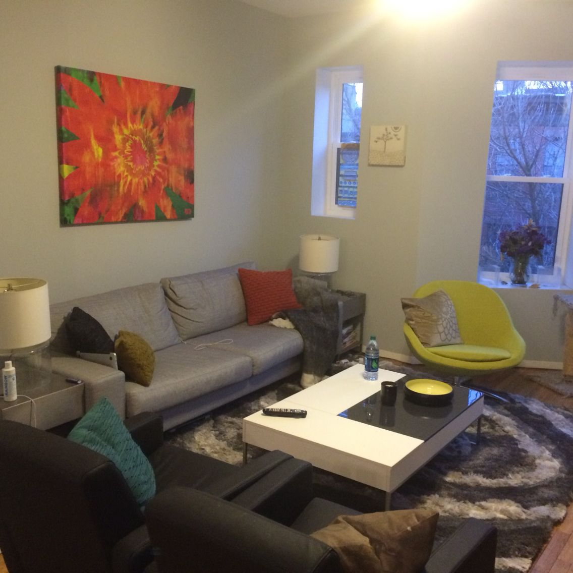 Yellow Chairs Living Room Park Slope Apartmentliving Room Renovation Boconcept Indivi Sofa