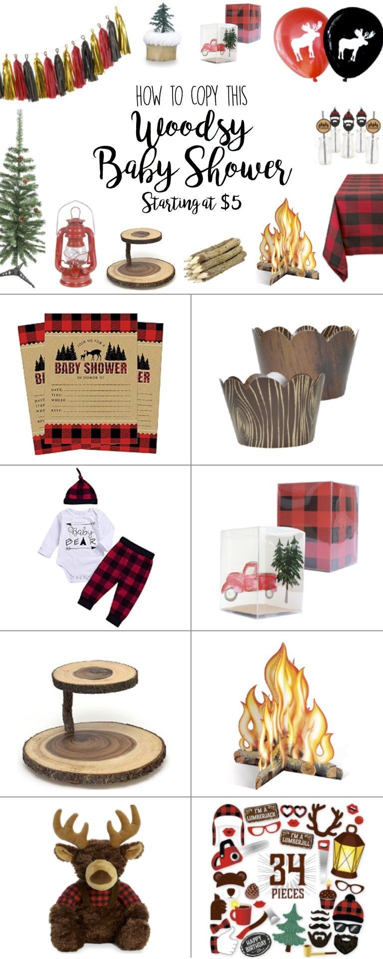Baby Shower Rustic Baby Shower Boy Decorations and Ideas - Cutest Ideas for Baby Boy Shower, Woodland, Woodsy, Decorations, Deer, Centerpieces, Plaid, Invitations, Favors, Burlap, Cake, DIY, Ideas, Buffalo Plaid Check, theme, favors, gifts, forest lumberjackRustic Baby Shower Boy Decorations and Ideas -...