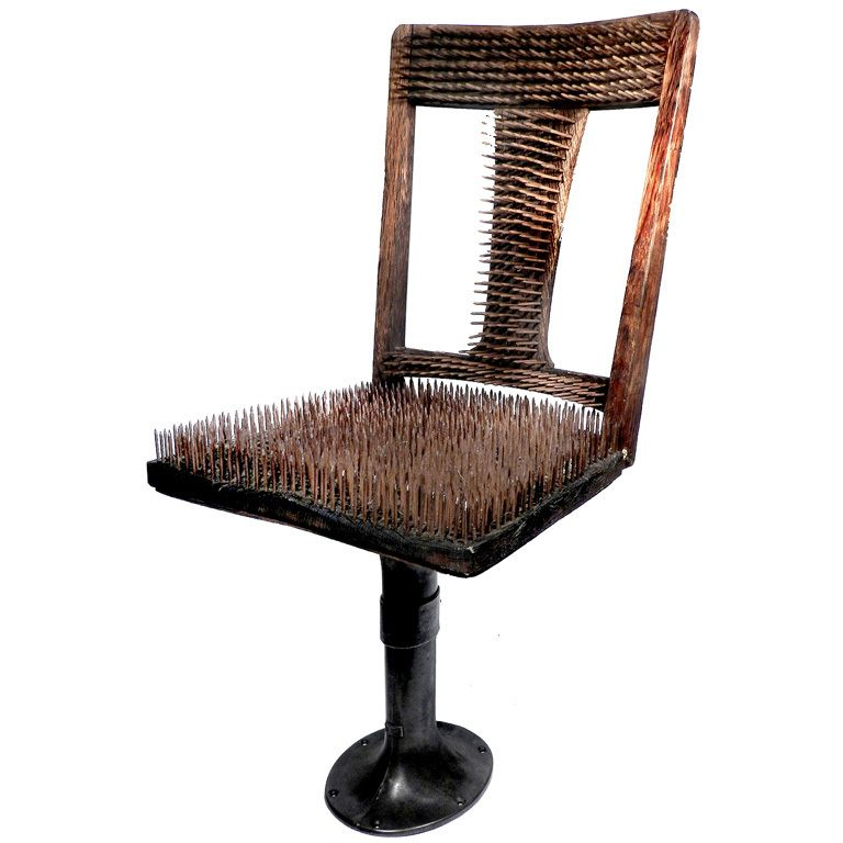 Unique Chair Nails The Worlds Most Un fortable Chair USA 1900 1920 fort was never it s goal The chair itself is quarter sawn oak on an adjustable base Top Search - Style Of most comfortable chair in the world Elegant