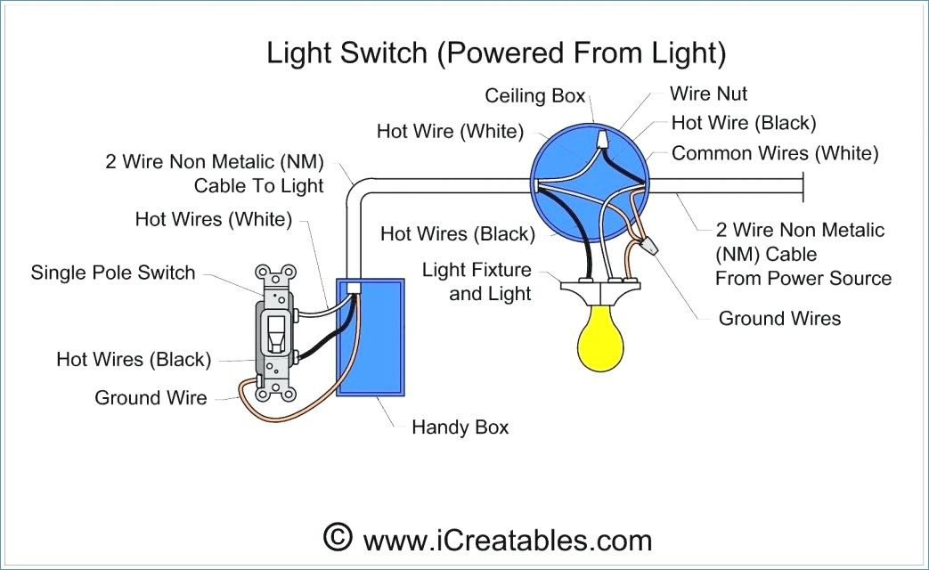wiring diagram for single light and switch