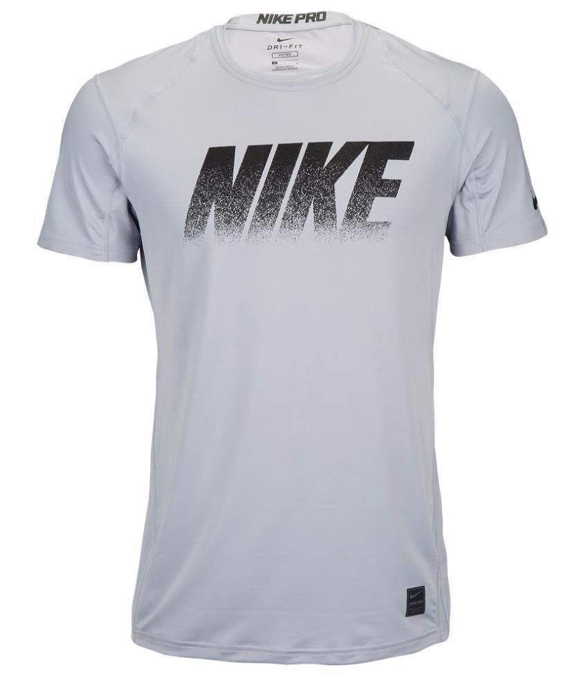 Pro tag 100 cotton 3 4 sleeve raglan baseball shirt in white black - Nike Mens Pro Cool Fitted Short Sleeve Training Gray Black Xl Shirt 827450 012