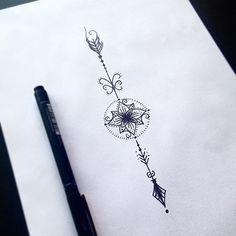 Flecha Com Mandalinha Dentro Art Arte Ink Inked Tattoo