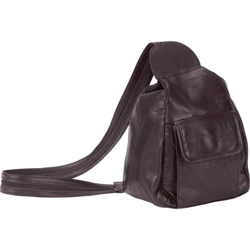 Italian Stone Design Brown Leather Backpack Purse. $9.81