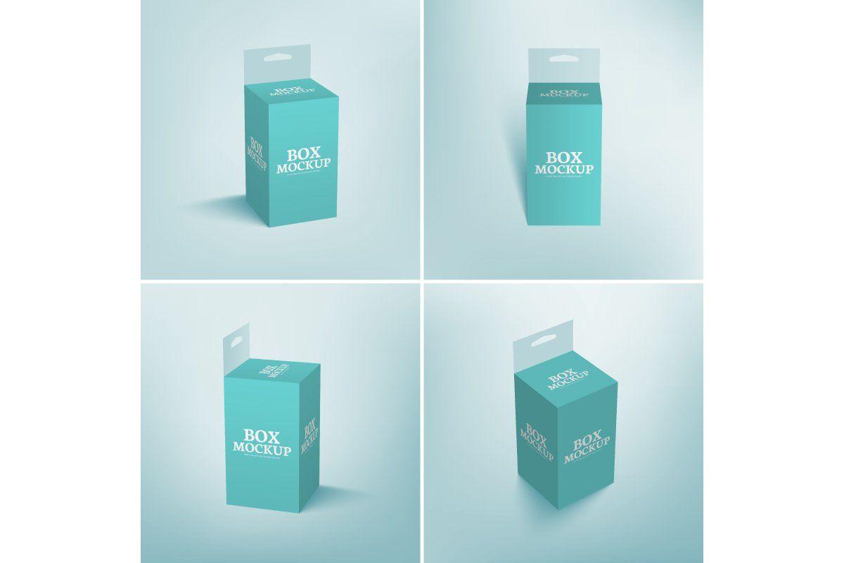 Download Hang Slot Packaging Box Mockup Box Mockup Box Packaging Mockup