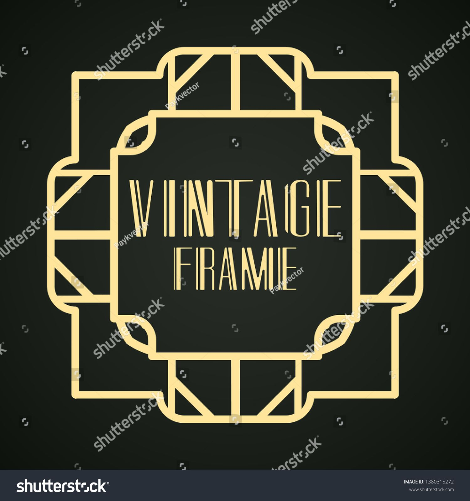 Modern Art Deco Frame Vintage Ornamental Border Design A Template For Invitations Leaflets Greeting Cards And Pa Modern Art Deco Luxury Background Art Deco