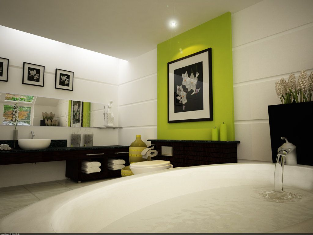 furniture captivating soothing water bath by inspiring bathroom designs with fresh atmosphere that pop of color lime is beautiful