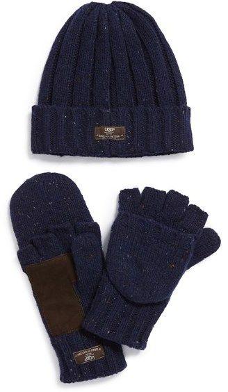 UGG® Australia  Calvert  Knit Hat   Gloves  97ef969e902