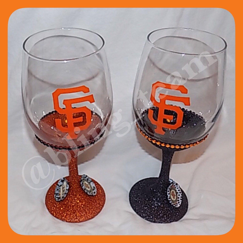 San Francisco Giants Bling Wine Glass