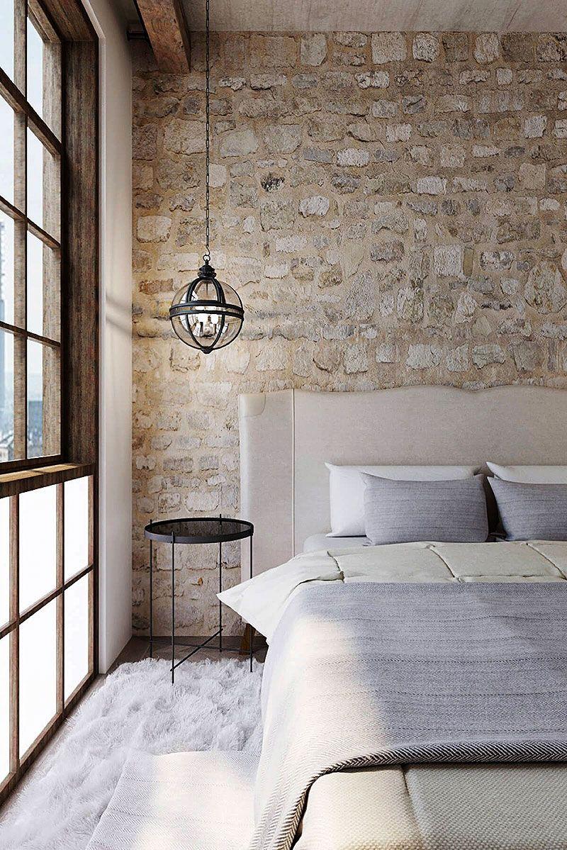24++ Stone wall bedroom ideas