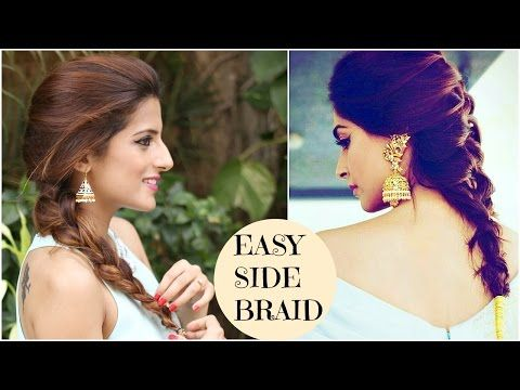 3 Indian Party Hairstyles For Medium To Long Hair Quick Amp Easy Indian Wedding Hairstyles Youtube Medium Hair Styles Diy Hairstyles Indian Hairstyles