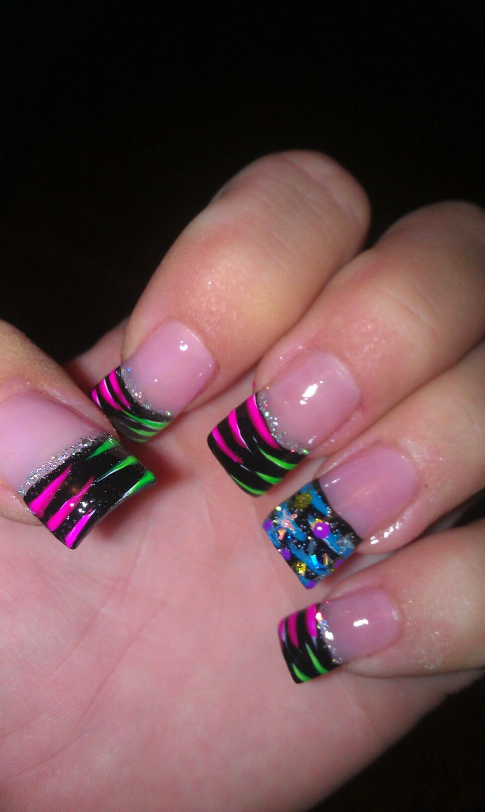 Crazy Nails.did Some Like This For My Friend Megan And